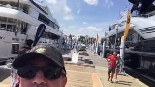 Main walkway entry at the Palm Beach Boat show with Randall Burg, Bradford Marine