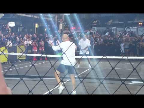 NYC Street Tennis -  Agassi vs Sampras NIKE tennis