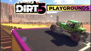 DIRT 5 - HARDEST PLAYGROUNDS Events! Can I Jump 16 BUSES?? (Xbox Series X)