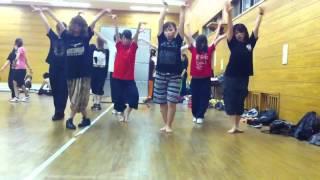 2012.07.11 あんなさんレッスンの練習風景.