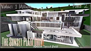Bloxburg Speed Build Step2 // The Sunset Plaza Modern Mansion: Making the Outside Front !! (ROBLOX)