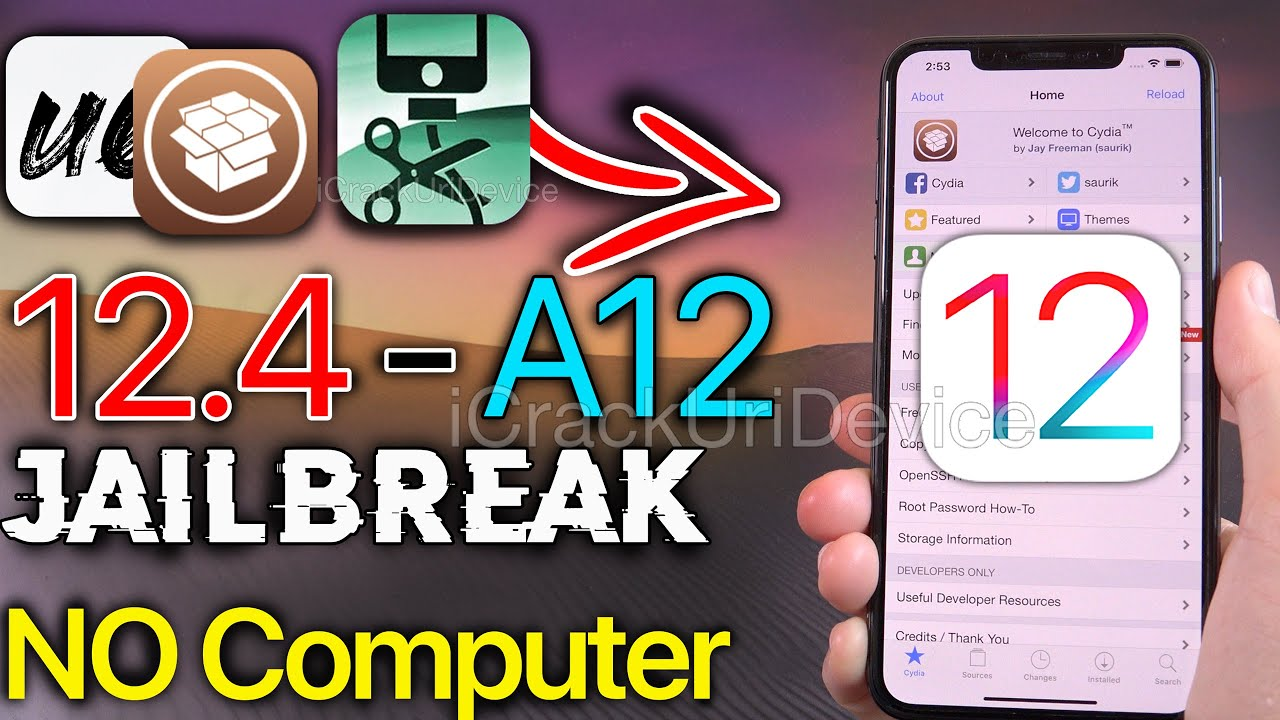 New A12 Jailbreak Ios 12 4 Unc0ver On Iphone Xs Max Xs Xr Ipad Pro Youtube