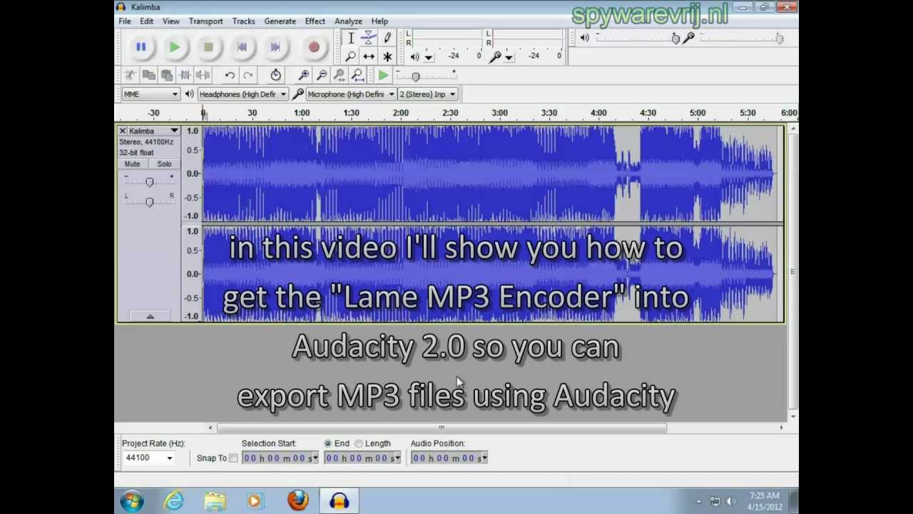Mp3 Encoder Audacity