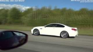Ferrari 458 Italia vs BMW M6 Coupe V8 BiTurbo with 305 km/h limiter