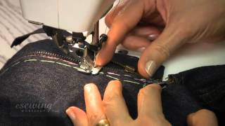 Sewing the Fly Zipper by Machine on the Under-lap Side (FREE SAMPLE)