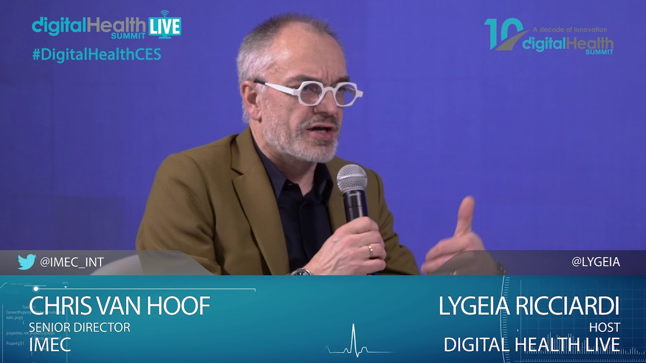 Interview Chris Van Hoof/IMEC -CES2019 - Digital Health Live Studio #CES2019 #DHS19