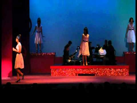 Emily Hannaway Performing as Patti Labelle in the Musical Beehive.