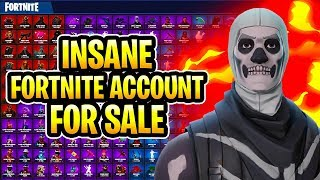 *INSANE* Fortnite Account For Sale | 50+ SKINS Including (SKULL TROOPER + GINGERBREAD MAN)