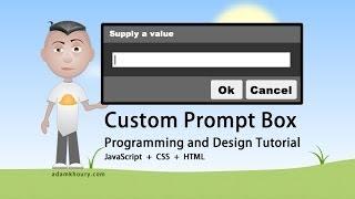 Custom Prompt Box Programming JavaScript CSS HTML Tutorial