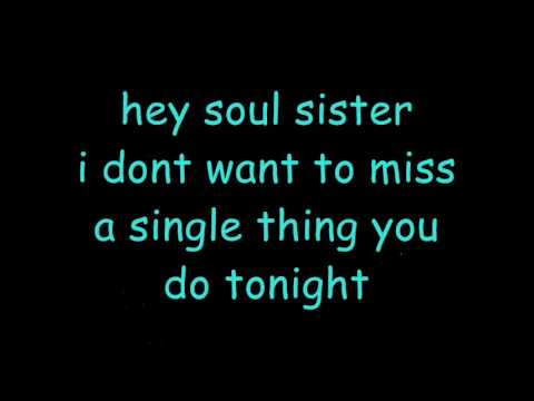 Hey, Soul Sister lyrics - Train