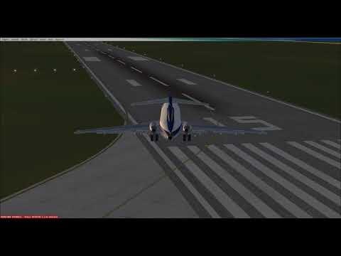 FSX: Rio de Janeiro to Brasilia with a 727