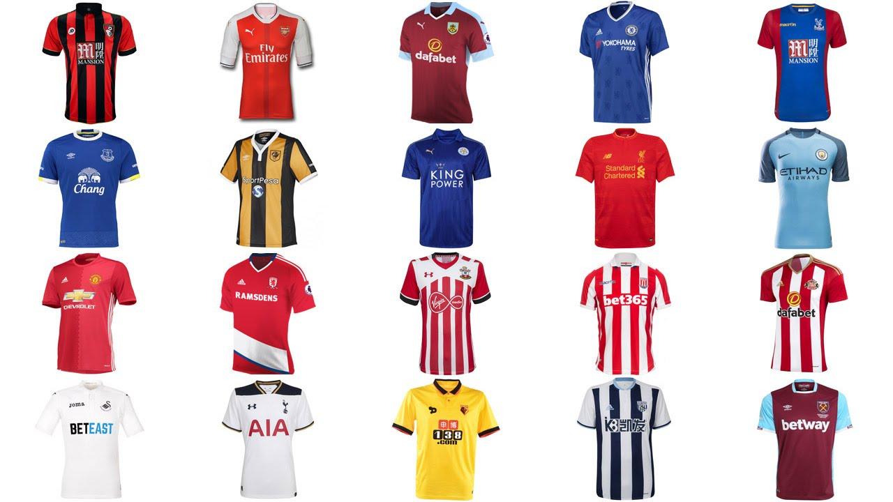 newest 78e56 82a42 All Premier League 2016-2017 Released Kit