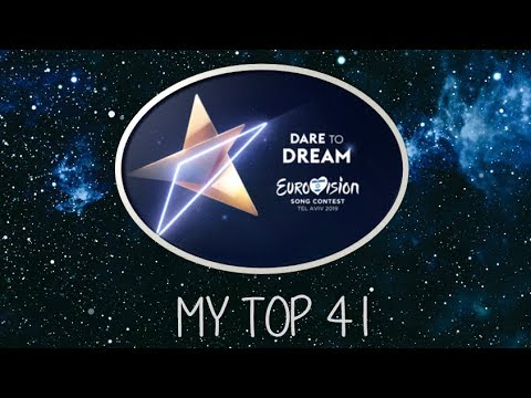 Eurovision Song Contest 2019 - My top 41 from Belgium
