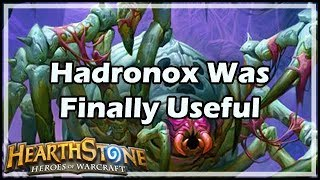 [Hearthstone] Hadronox Was Finally Useful
