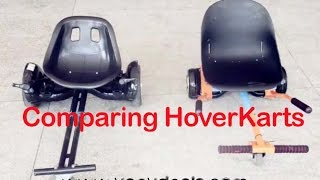 Unboxing & Comparing HoverKarts, turn you hoverboard into a GoKart with Koowheel