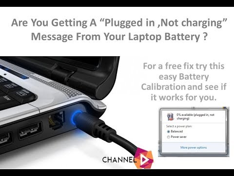 laptop battery plugged in but not charging issue solved youtube. Black Bedroom Furniture Sets. Home Design Ideas