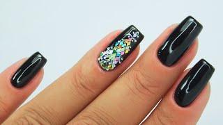 Bling ornament nails art Tutorial / Colours by Molly #ornamentsnails #blingnails