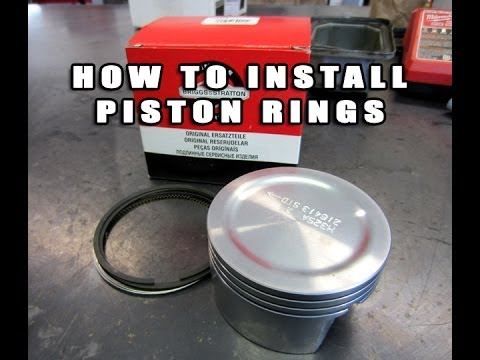 Installing Piston Rings The Easy Way With No Tools!