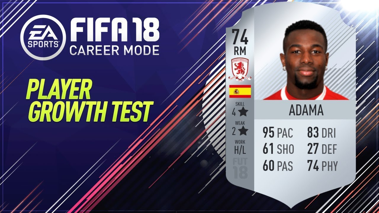 Fifa 18 Adama Growth Test Youtube