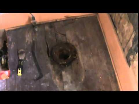 Repairing old upstairs bathroom