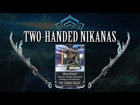 Warframe Stances - Wise Razor (Two-Handed Nikanas) thumbnail