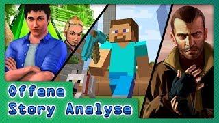 Videospiel Erzählungen  Part 1 -  Offene Erzählung - Story Analyse