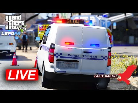 GTA V | Australian LSPDFR Live! | Central San Andreas Country Patrol in the NSW Police Hyundai iLoad