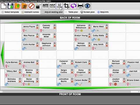 clickschool s free online seating plan generator youtube