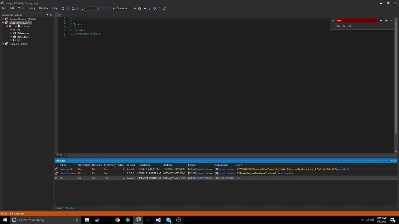 ConfuserEx: How to Remove Compresser