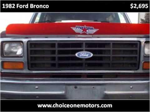 1982 Ford Bronco Used Cars Westminster-Denver CO