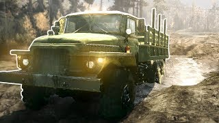 BAD TRUCKERS CROSS A RIVER! - Spintires MudRunner Multiplayer Gameplay