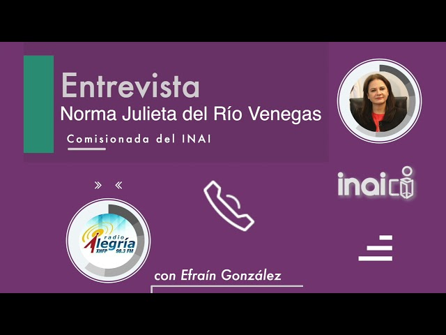 Entrevista Comisionada Norma Julieta Del Río Venegas
