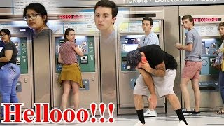 ANSWERING PHONE LOUDLY IN PUBLIC PART 4!