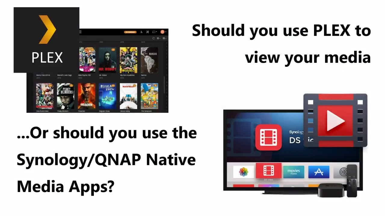 Plex Versus Native Apps from Synology and QNAP NAS - Which one deserves  your Media