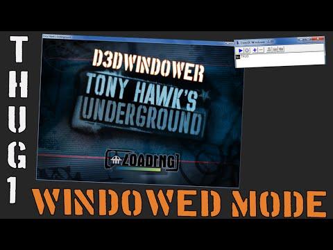 Tony Hawk's Underground Stream/Speedrunning Setup (Windowed Mode)