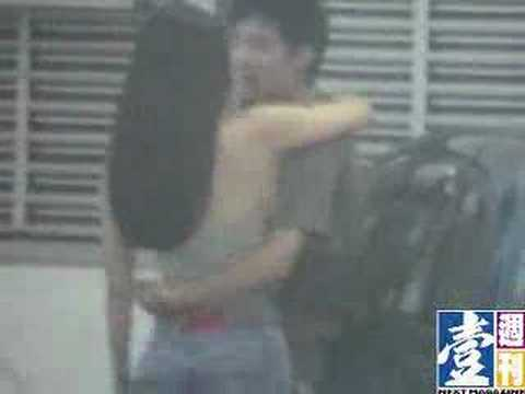 Zhang ZiYi kissing her bf in Hongkong