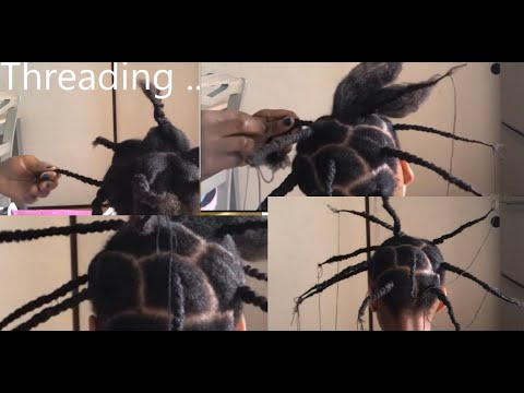 The Beauty Of African Threading... natural hairstyle for kids