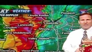 Late Night Major Storm moving thru Fern Creek , Kentucky .