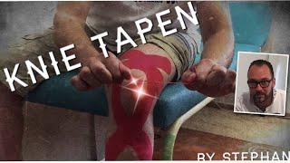 Knie tapen - die vielseitigste und umfänglichste Anlage - Knie stabilisieren - Kinesio Tape