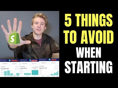 Top 5 Things To Avoid When Starting Shopify Dropshipping...