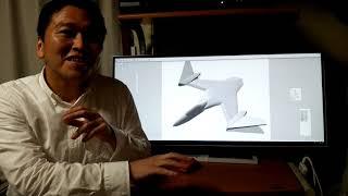 Shade 3Dでデザインしてみました。やはり最初は「ぼくのかんがえた」戦闘機。拙いですが、千里の道も一歩から。
