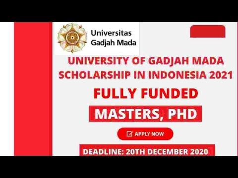 University of Gadjah Mada Scholarship  Indonesia 2021 | Fully Funded