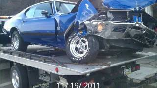 1971 Oldsmobile Cutlass 442, ends up Wrecked!