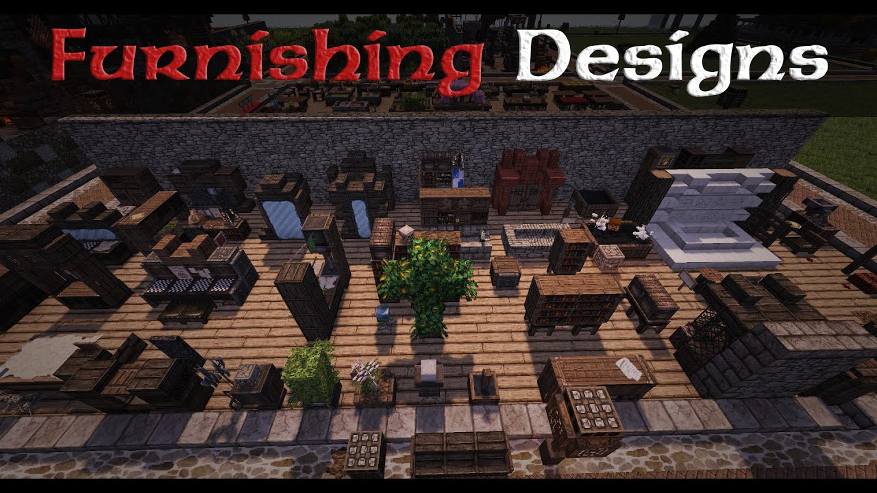 Minecraft Designs  Furniture And Furnishings