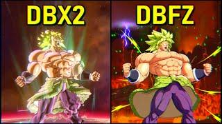 Broly - All Forms & Attacks | DBXV2 vs Dragon Ball FighterZ [DBS-DBZ-SSJ]