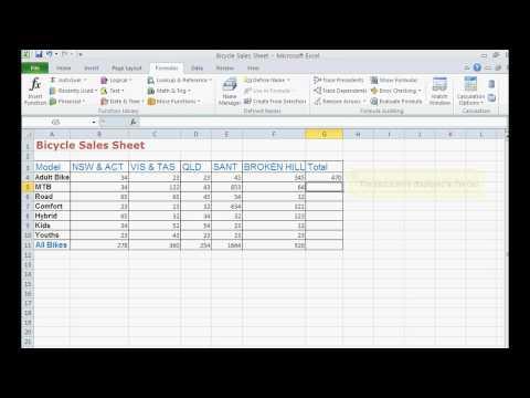TWB Video Tutorial - Building A Formula In Microsoft Excel