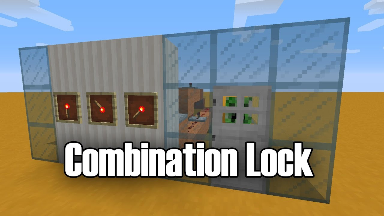 Minecraft Item Frame Combination Lock - YouTube