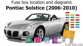 Fuse box location and diagrams: Pontiac Solstice (2006-2010) - YouTube