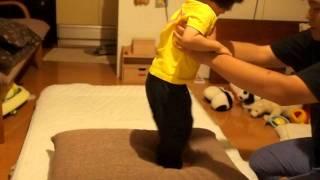 149 2歳1ヶ月赤ちゃん子供 ジャンプできない演技 2years 1month old baby kid