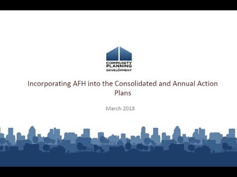 Incorporating the AFH in the Consolidated Plan Webinar